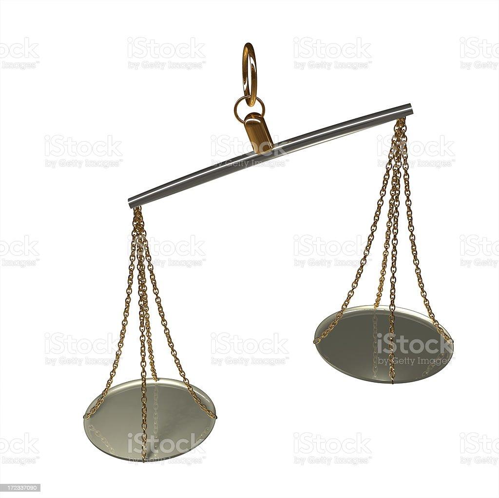 Unbalanced Scales royalty-free stock photo