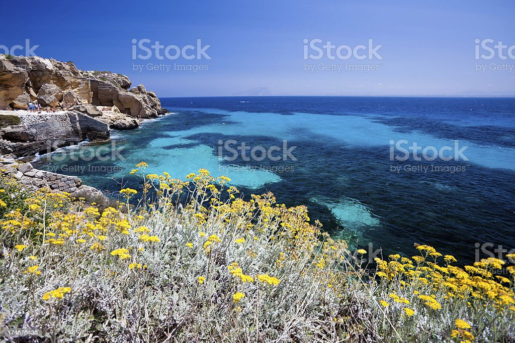 Unbelievable seascape in Siciliy royalty-free stock photo