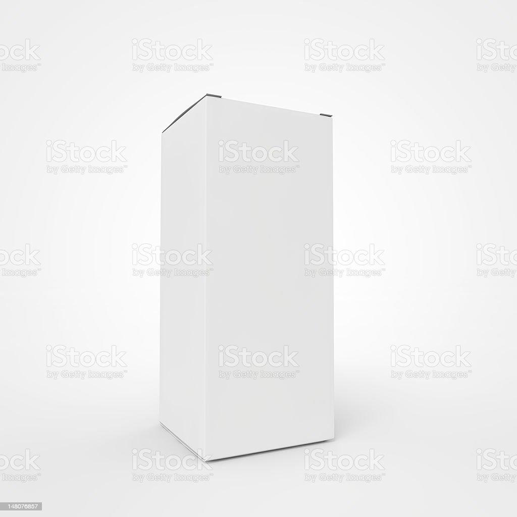 Unbranded drug box. royalty-free stock photo