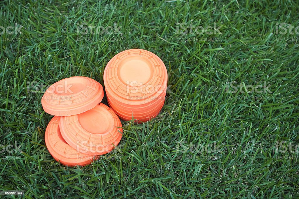Unbroken clays stock photo