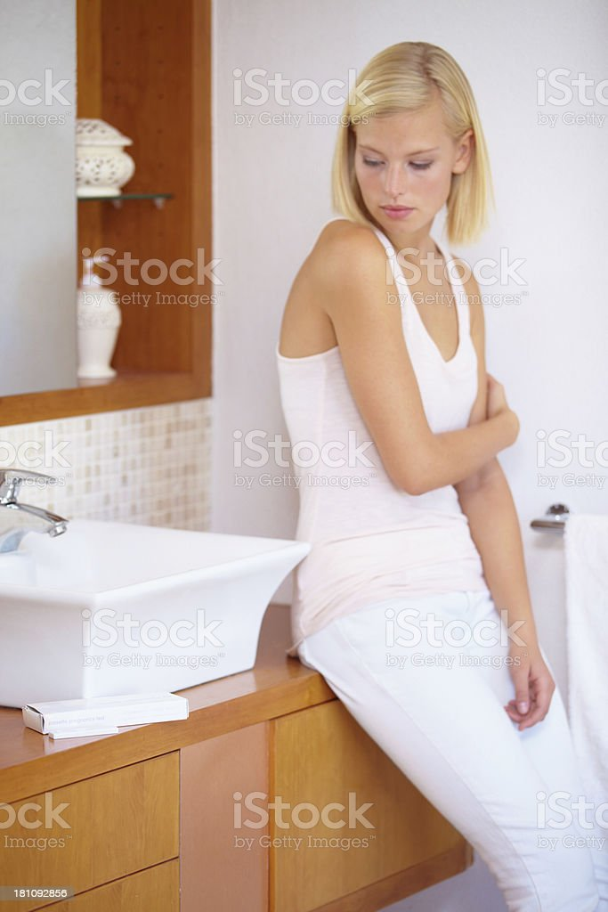 Uncertain about the outcome royalty-free stock photo