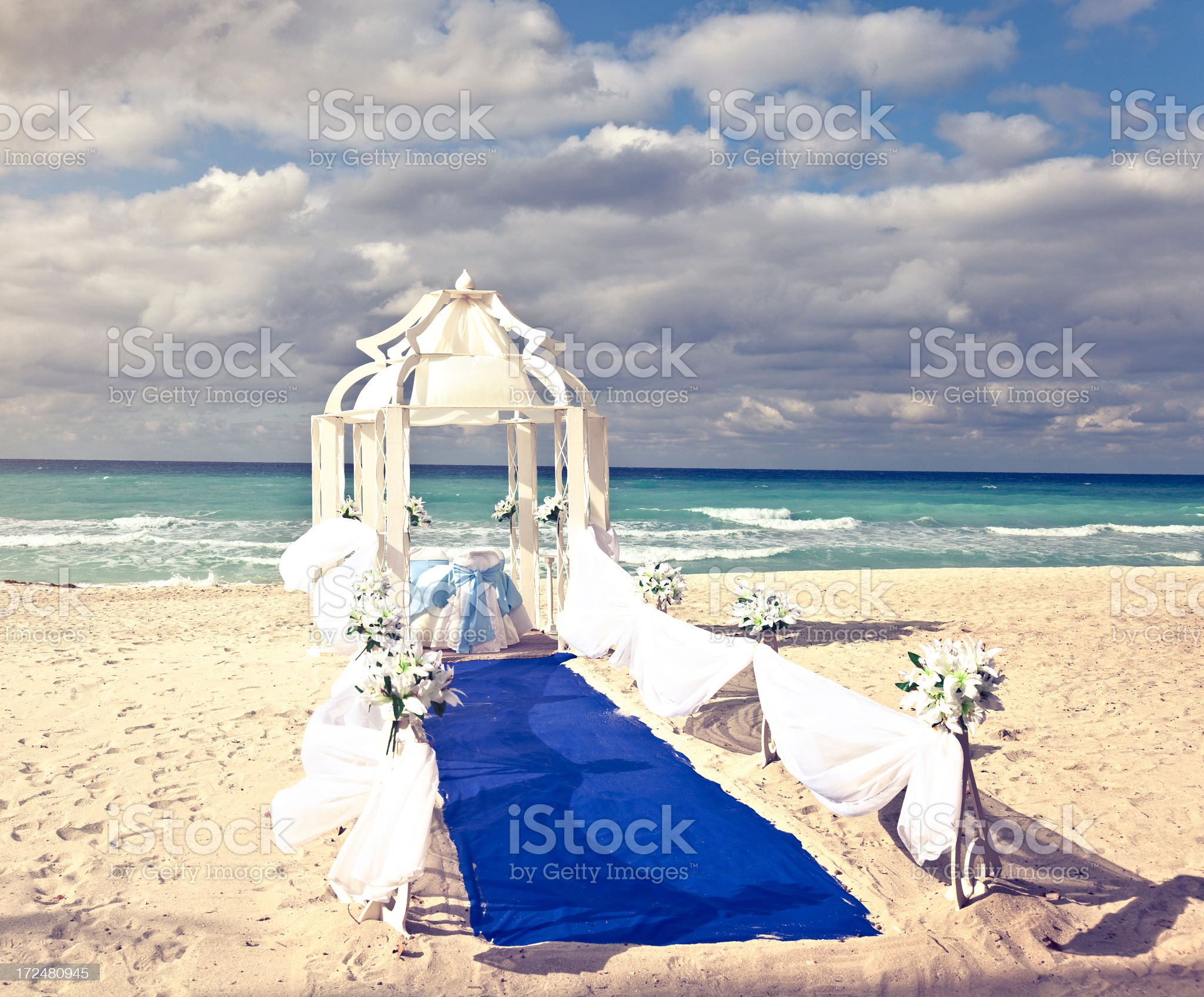 Uncertain Future - wedding decoration and stormy weather royalty-free stock photo