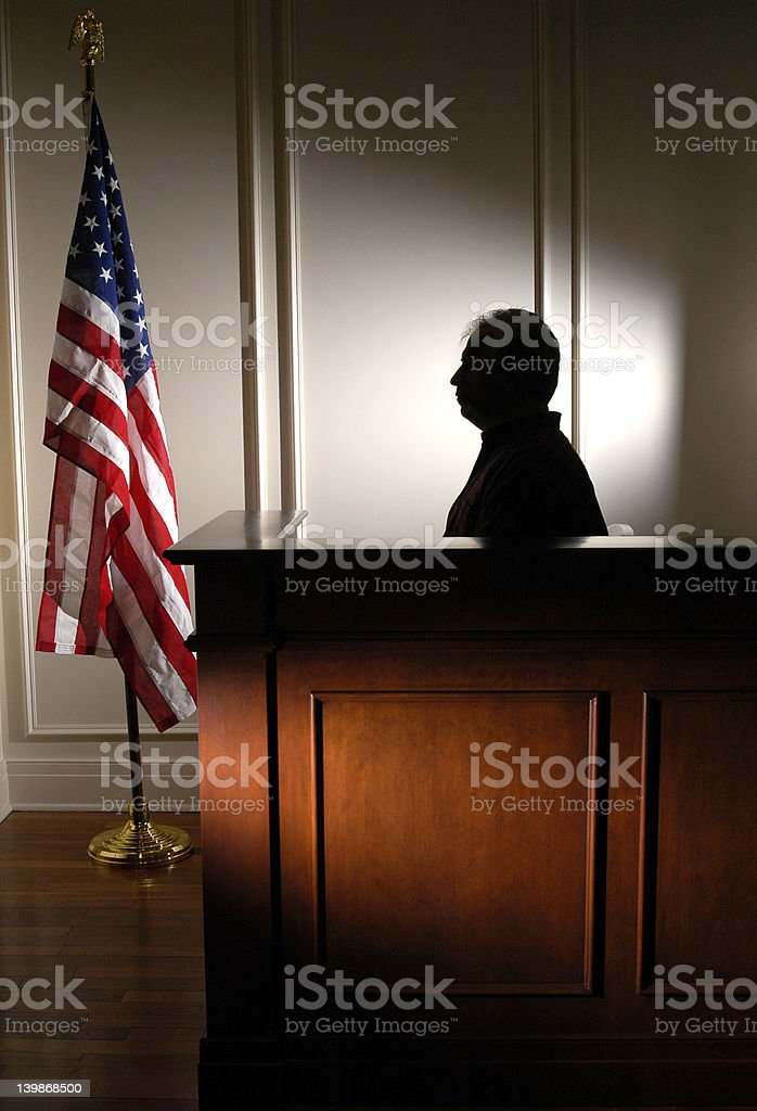 Uncertain Justice stock photo