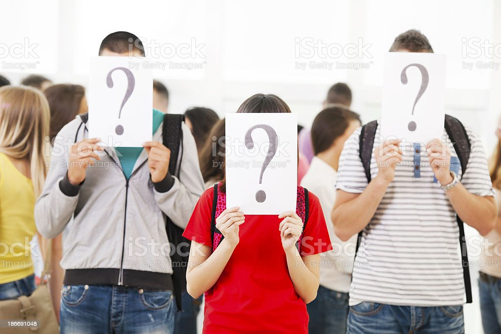 Uncertain students. royalty-free stock photo
