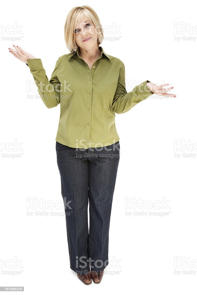 Uncertain Woman royalty-free stock photo