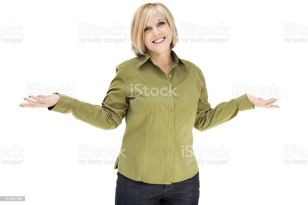 Uncertain Woman stock photo