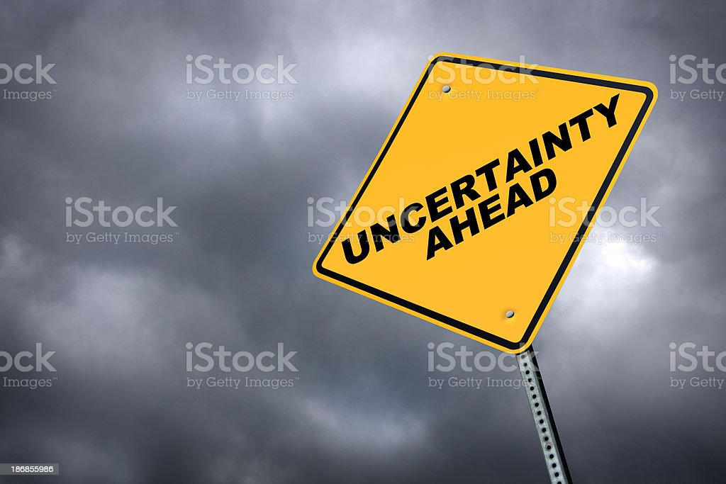 Uncertainty Ahead stock photo