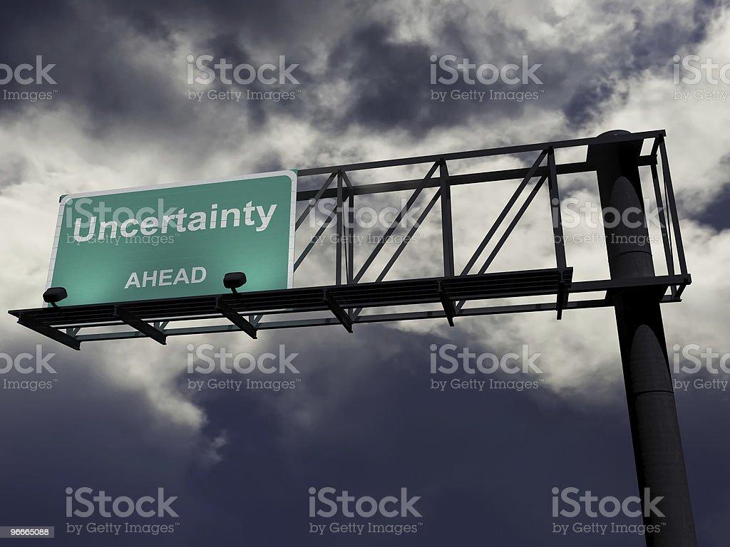 Uncertainty Ahead stock photo