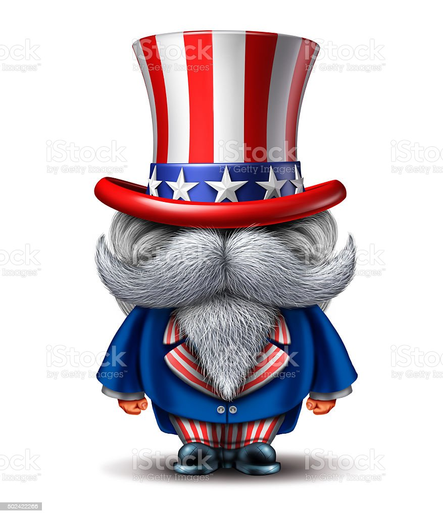 Uncle Sam Character stock photo