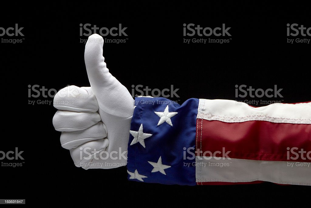 Uncle Sam gives a Thumb's Up stock photo