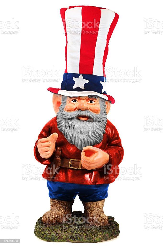 Uncle Sam Gnome stock photo
