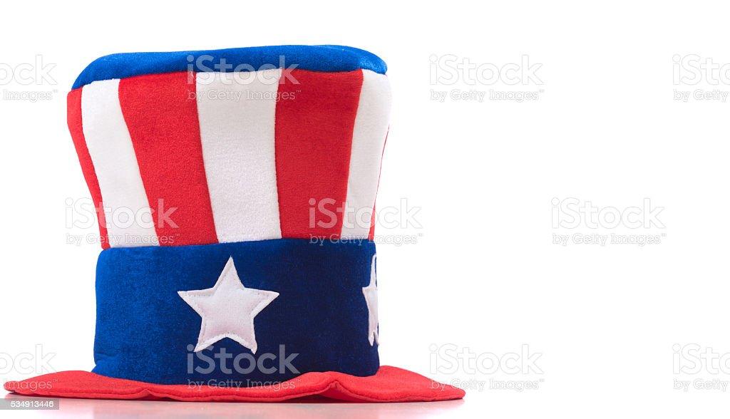 Uncle Sam Hat on white stock photo