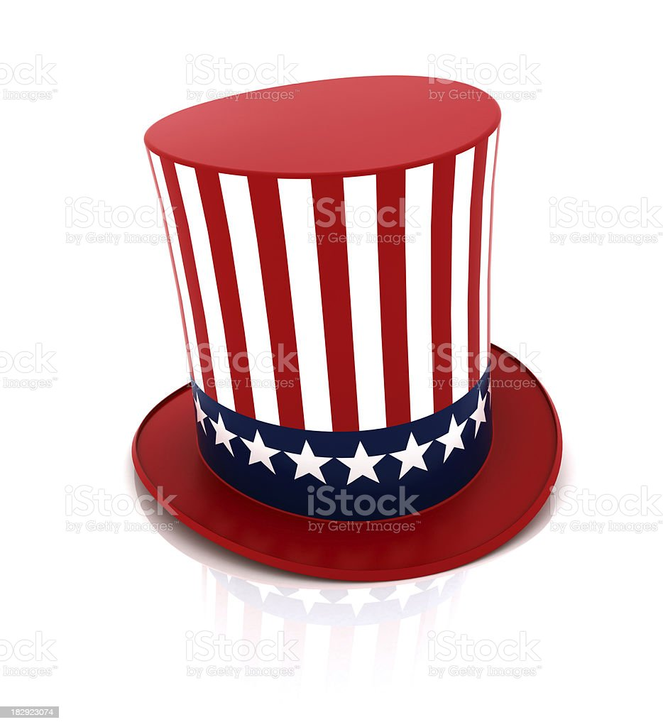 Uncle Sam hat stock photo