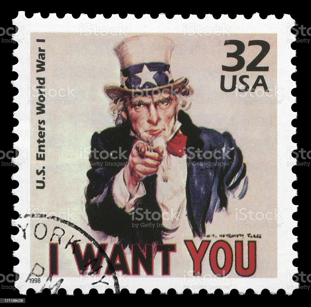 Uncle Sam: I want you! (XXLarge) stock photo