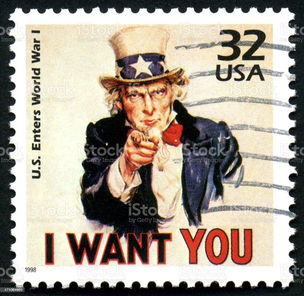 Uncle Sam I Want You royalty-free stock photo