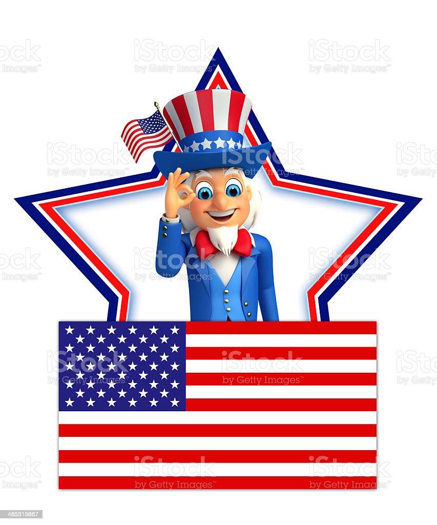 Uncle Sam royalty-free stock photo