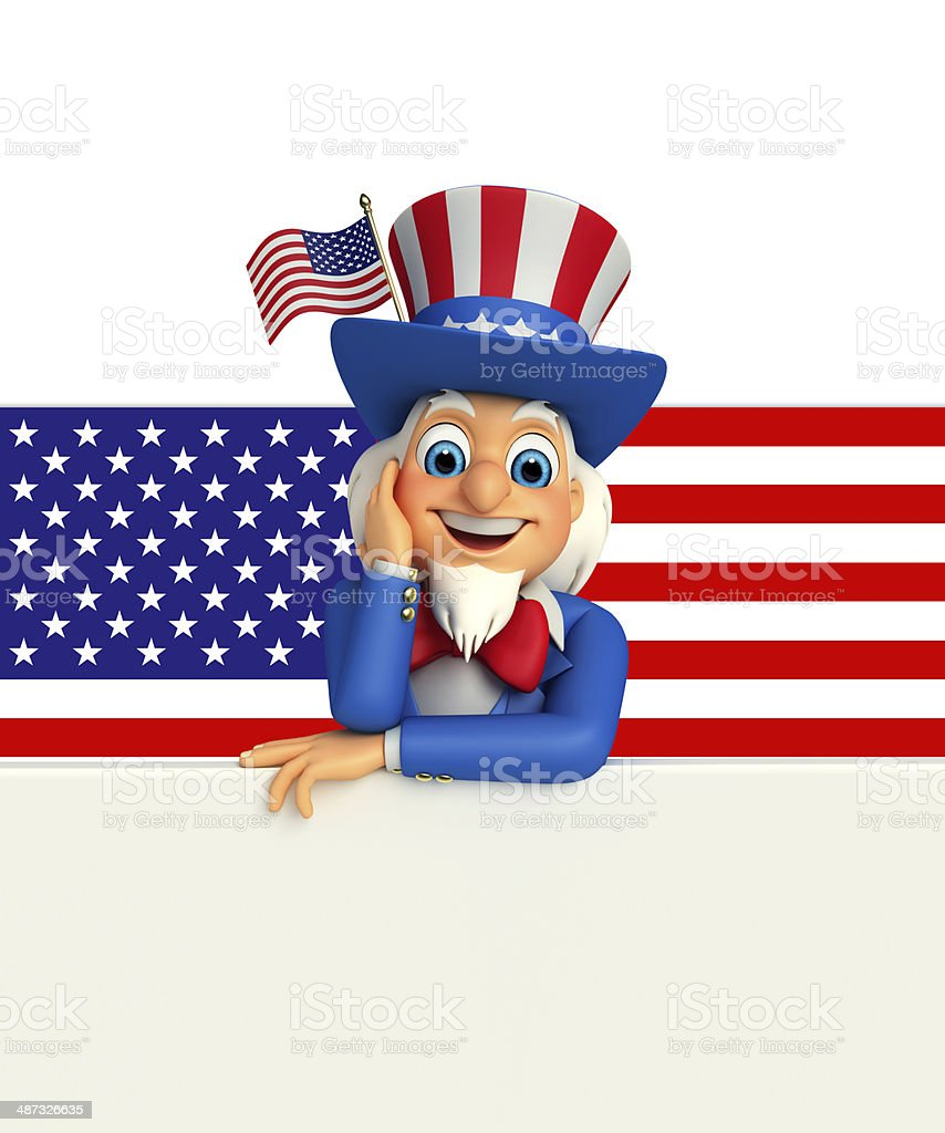Uncle Sam royalty-free stock photo