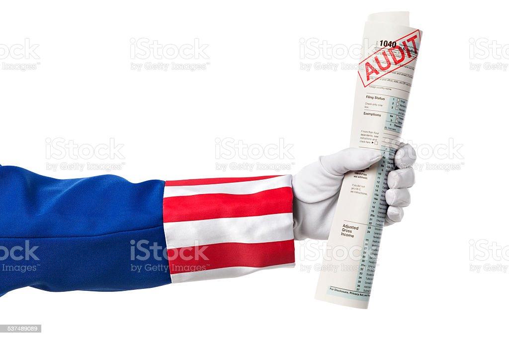 Uncle Sam Tax Audit stock photo