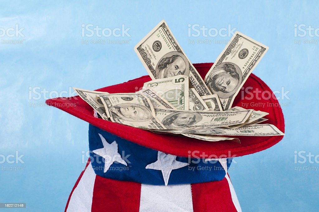 Uncle Sam's Money stock photo