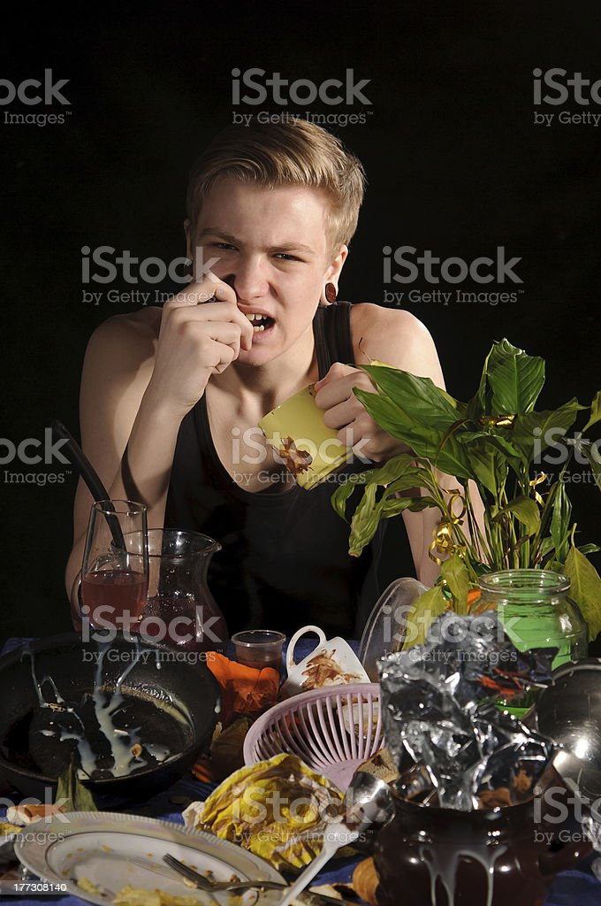 uncleared table royalty-free stock photo