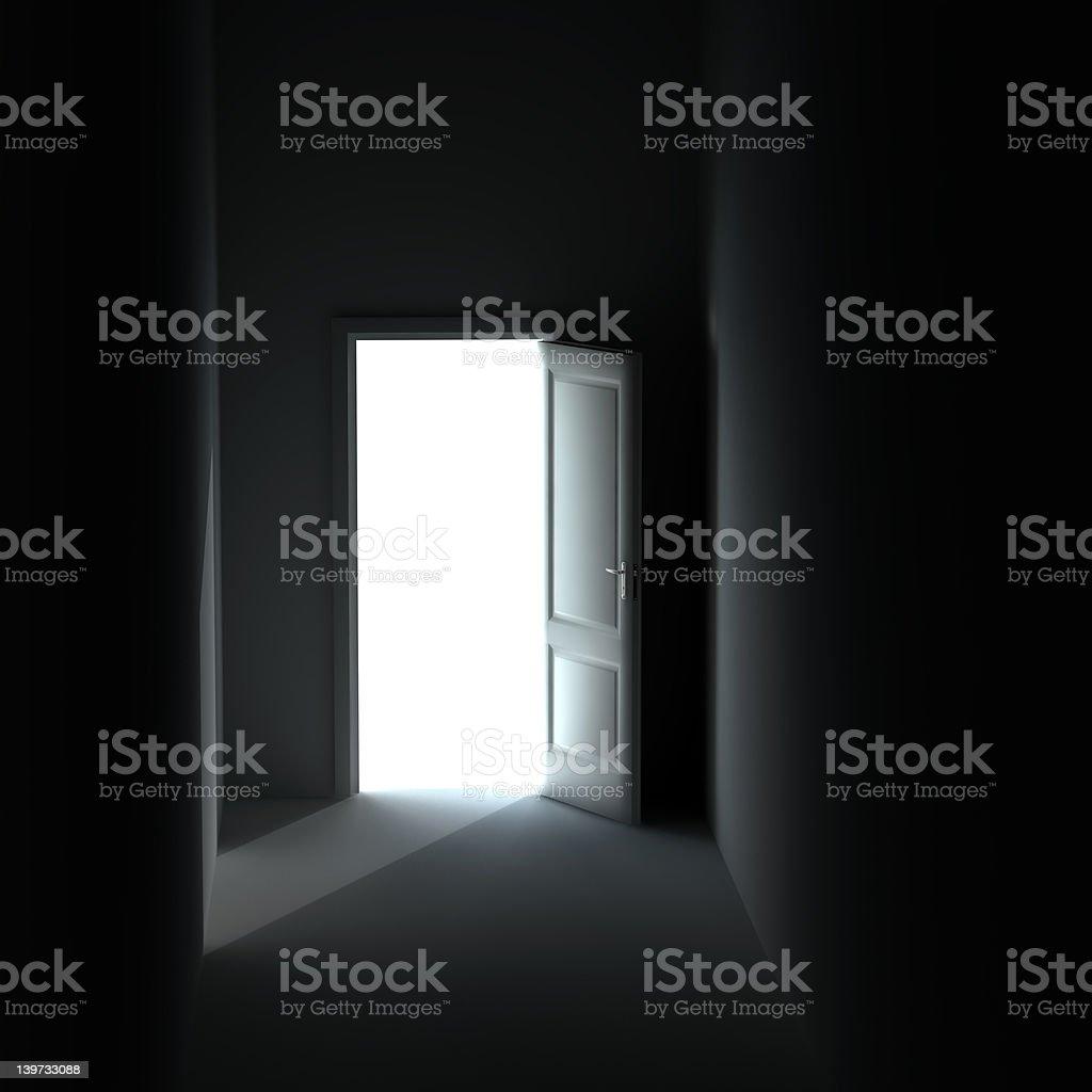 unclosed door royalty-free stock photo