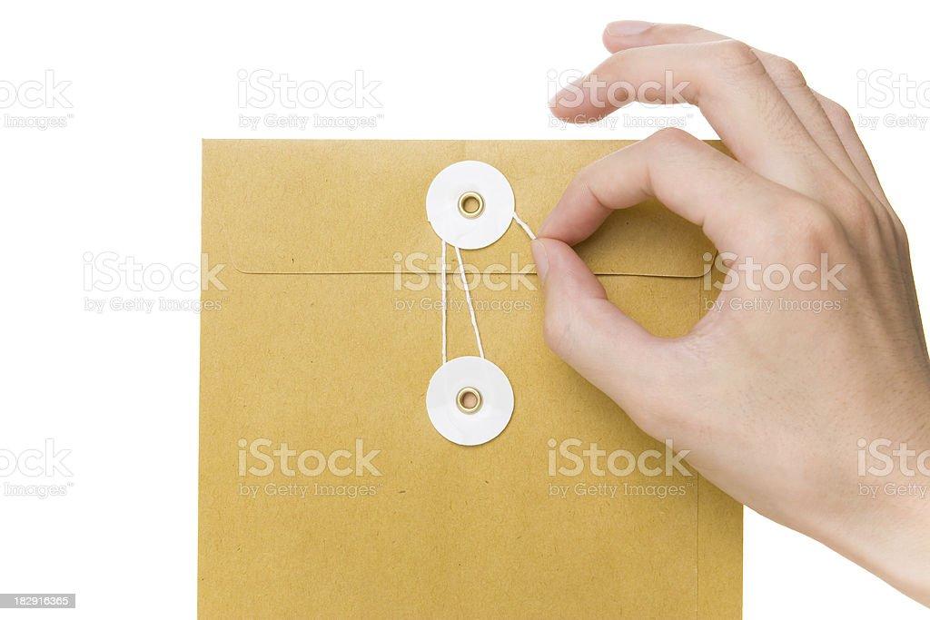 Unclosing Envelope royalty-free stock photo