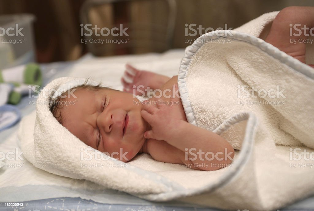 Uncomfortable Baby Portrait royalty-free stock photo