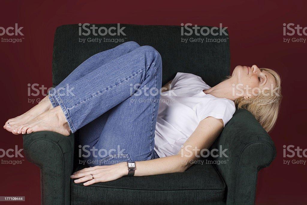 Uncomfortable Catnap stock photo