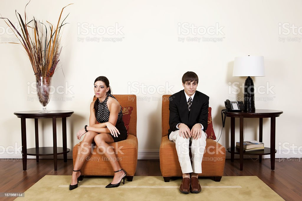 Uncomfortable Office Situation royalty-free stock photo