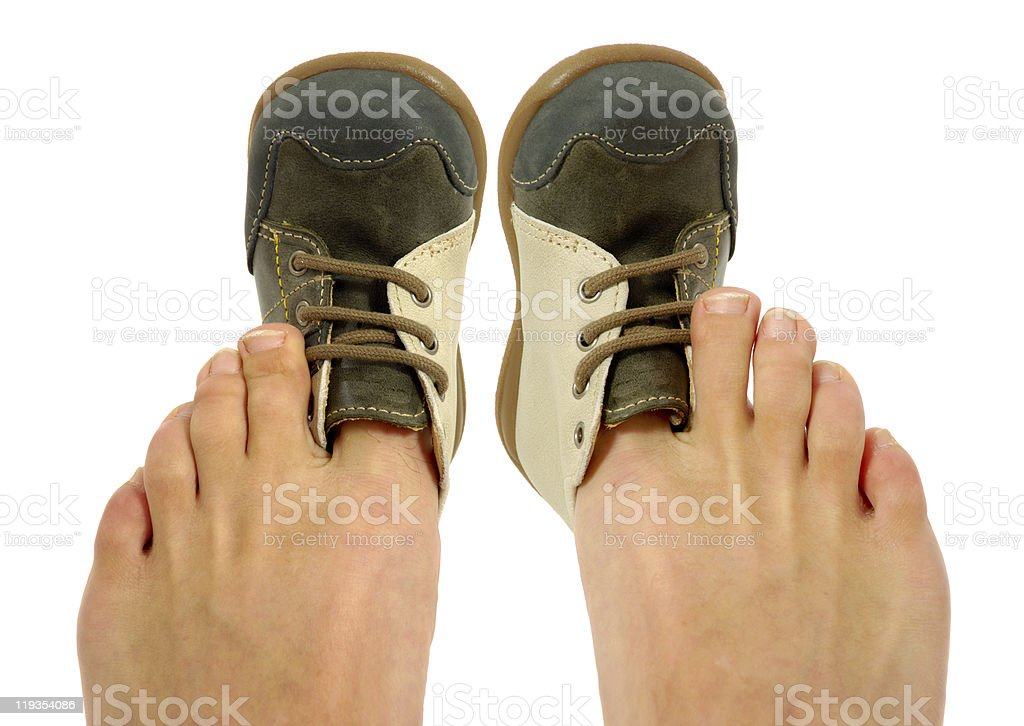 Uncomfortable shoes stock photo