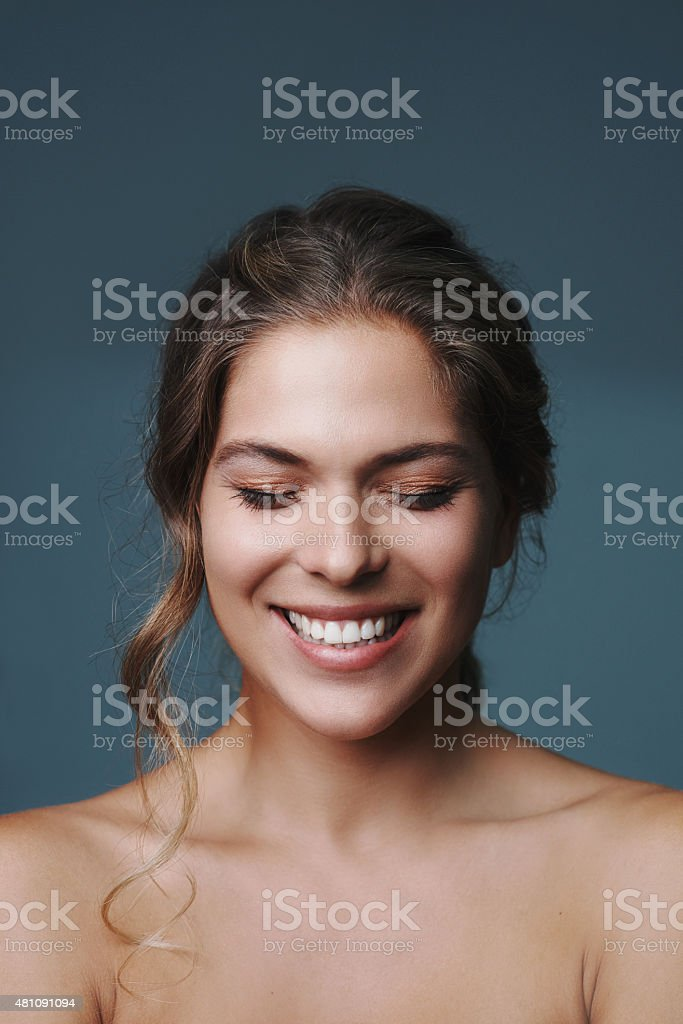 Uncomplicated beauty stock photo