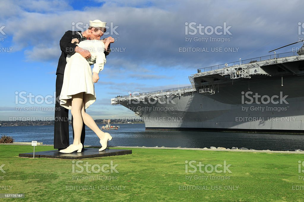Unconditional Surrender stock photo