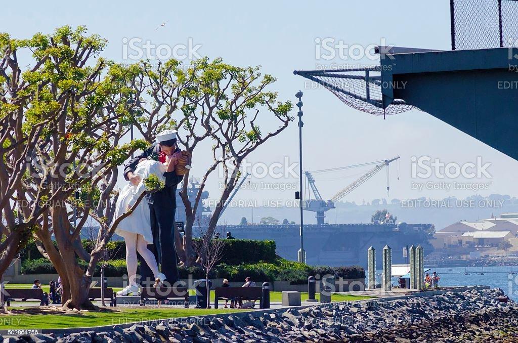 Unconditional surrender, San Diego stock photo