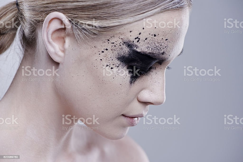 Unconventional beauty stock photo