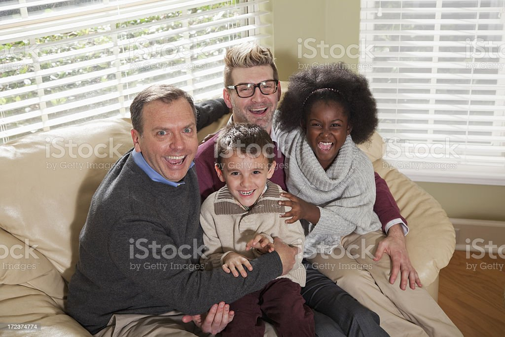 Unconventional family stock photo