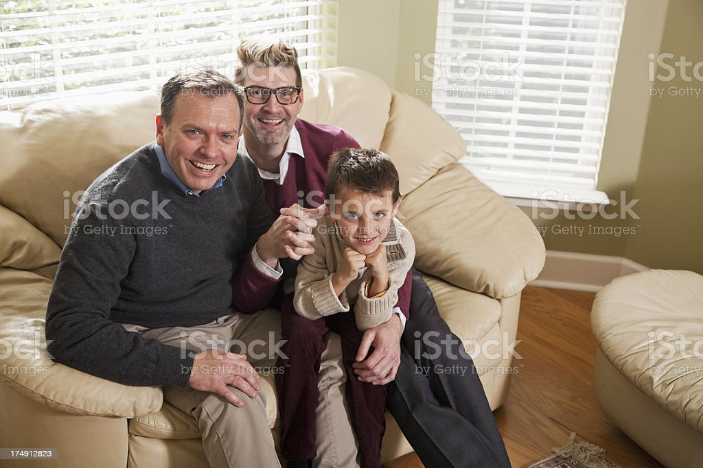 Unconventional family royalty-free stock photo