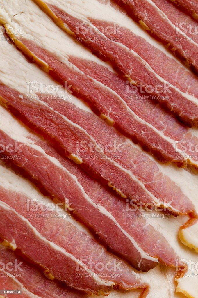 Uncooked Bacon royalty-free stock photo