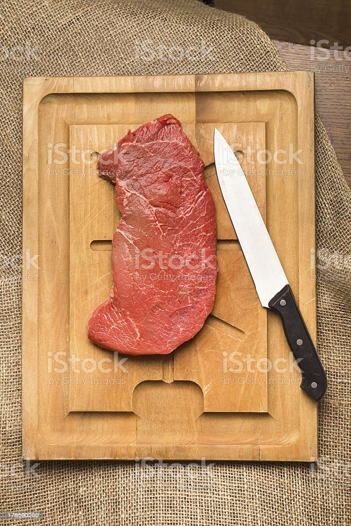 Uncooked Beef royalty-free stock photo