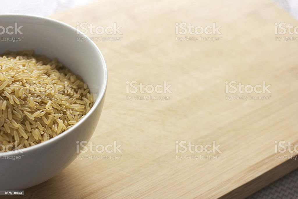 Uncooked brown rice royalty-free stock photo