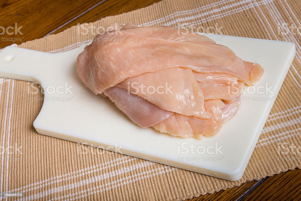 Uncooked Chicken stock photo