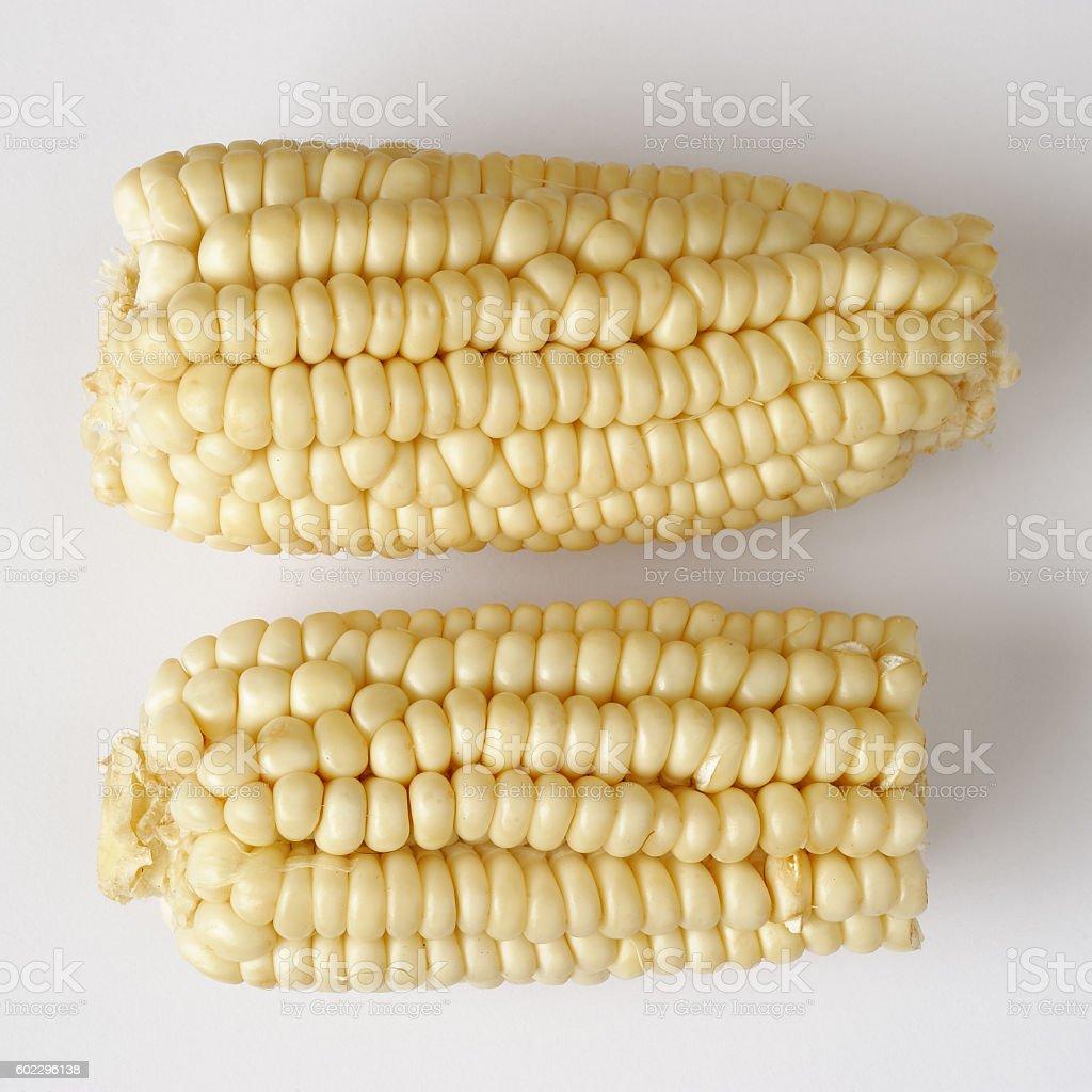 Uncooked corns stock photo