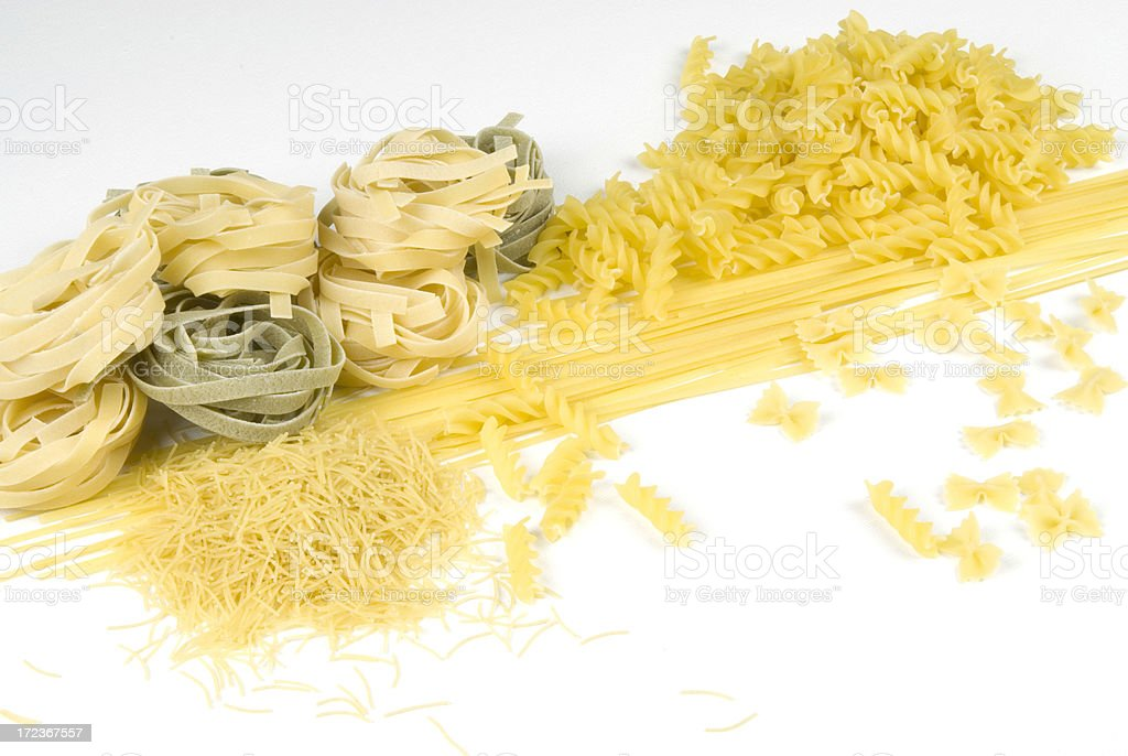 Uncooked Pasta stock photo