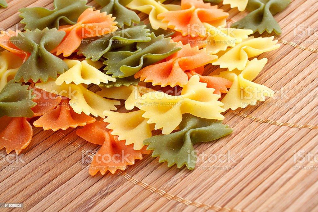 Uncooked pasta royalty-free stock photo