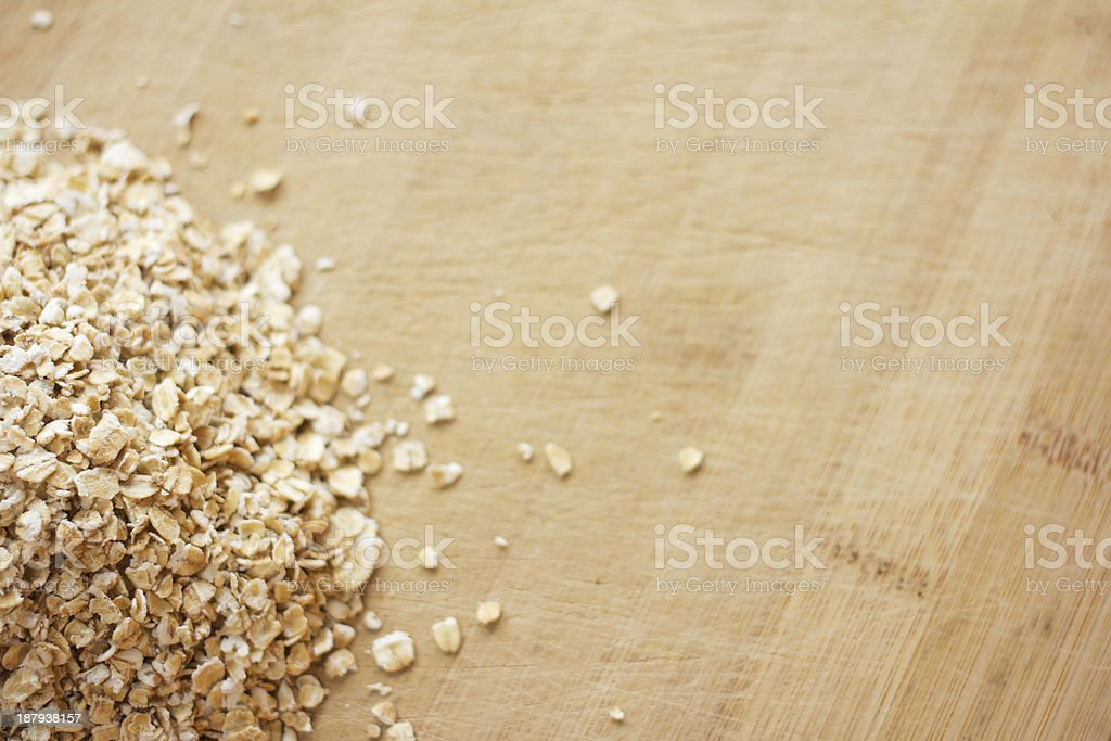 Uncooked rolled oats royalty-free stock photo