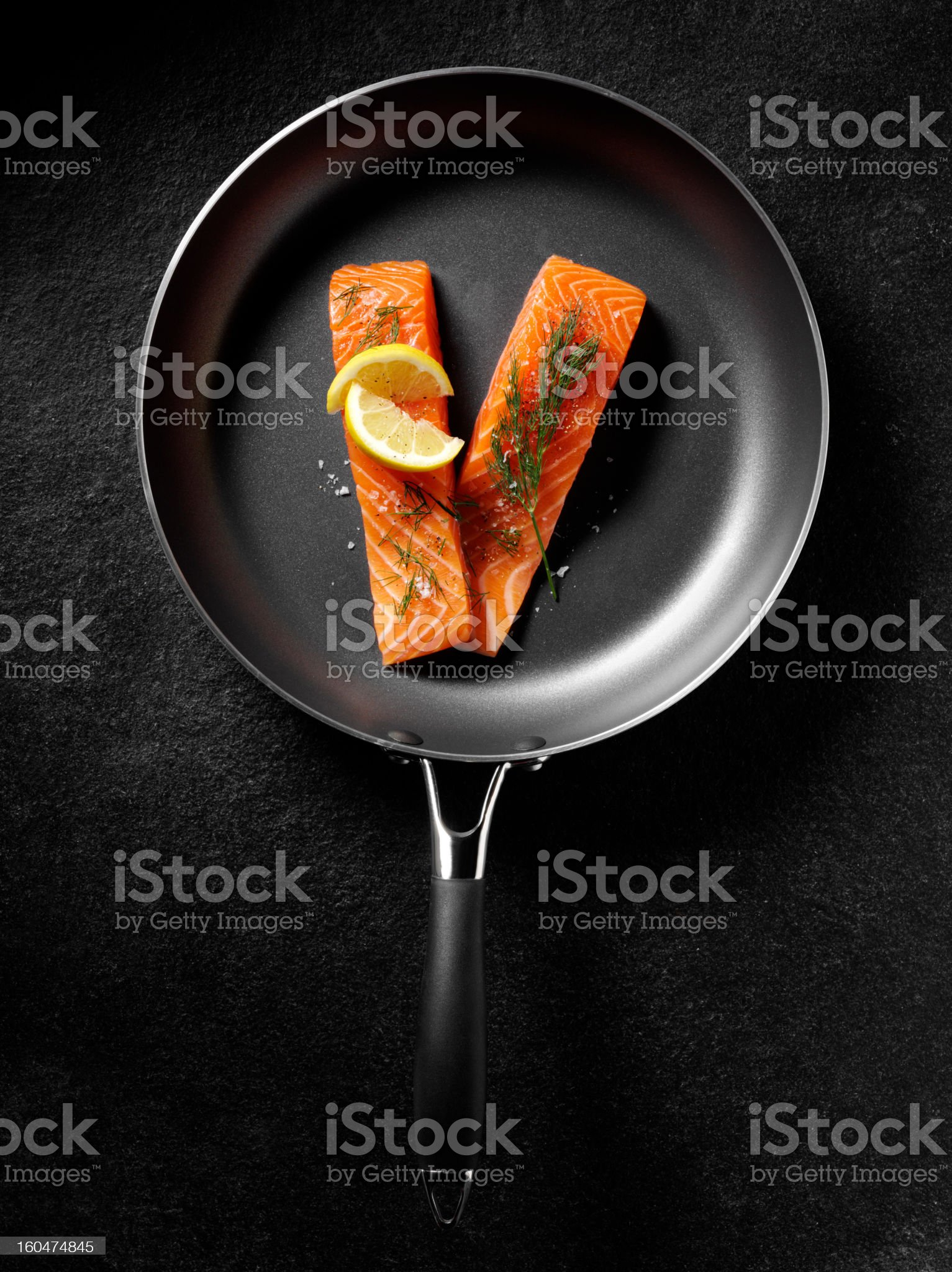 Uncooked Salmon Fillets royalty-free stock photo