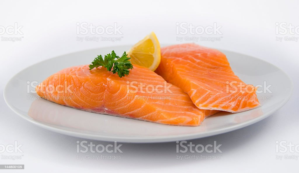 Uncooked Salmon royalty-free stock photo