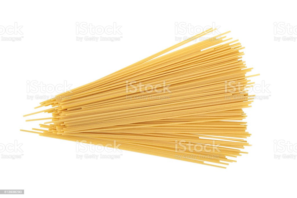 Uncooked Spaghetti stock photo