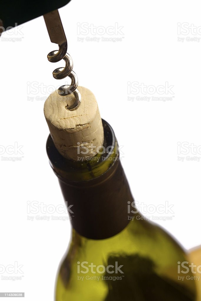 Uncorking wine #1 stock photo