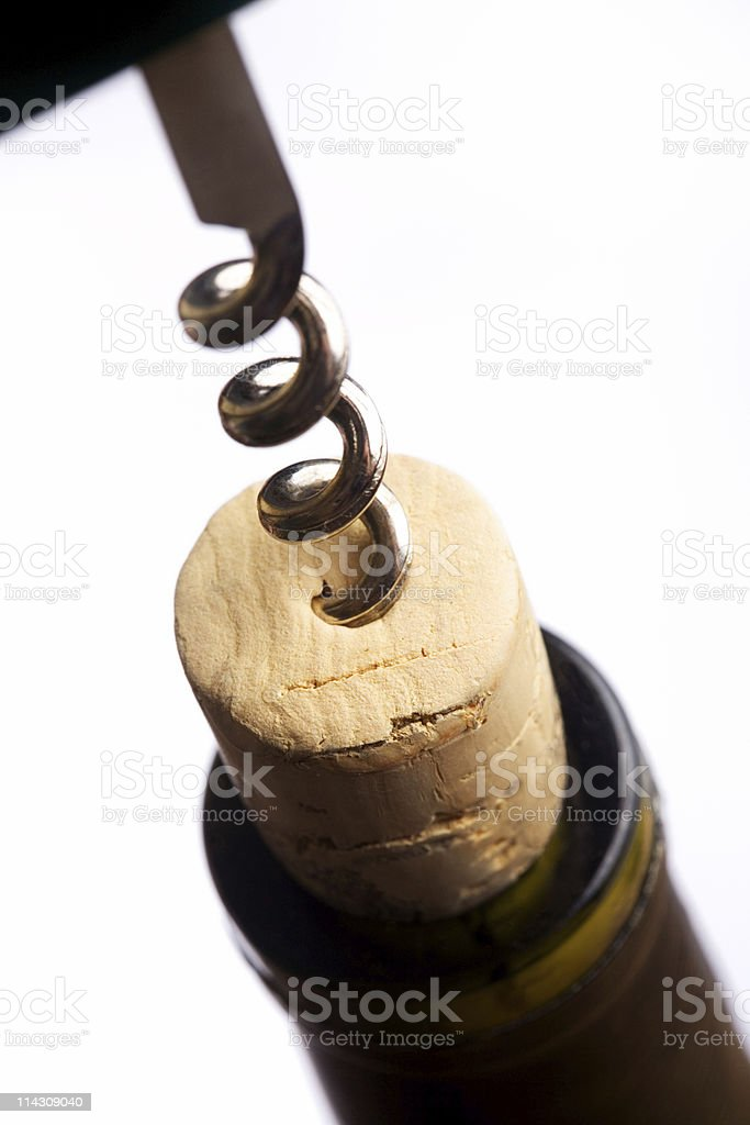 Uncorking wine #4 stock photo