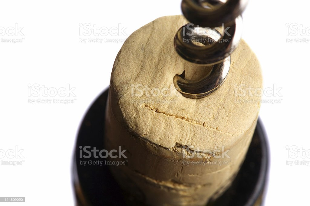Uncorking wine #2 stock photo